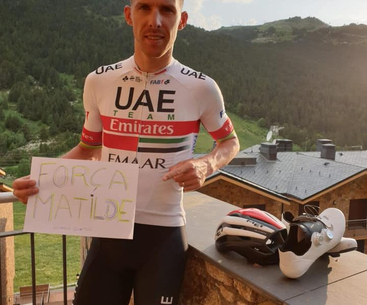 Rui Costa apela à solidariedade do mundo do ciclismo, para salvar a Matilde.