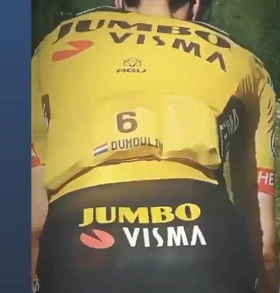 Jumbo Visma terá jersey com número e nome