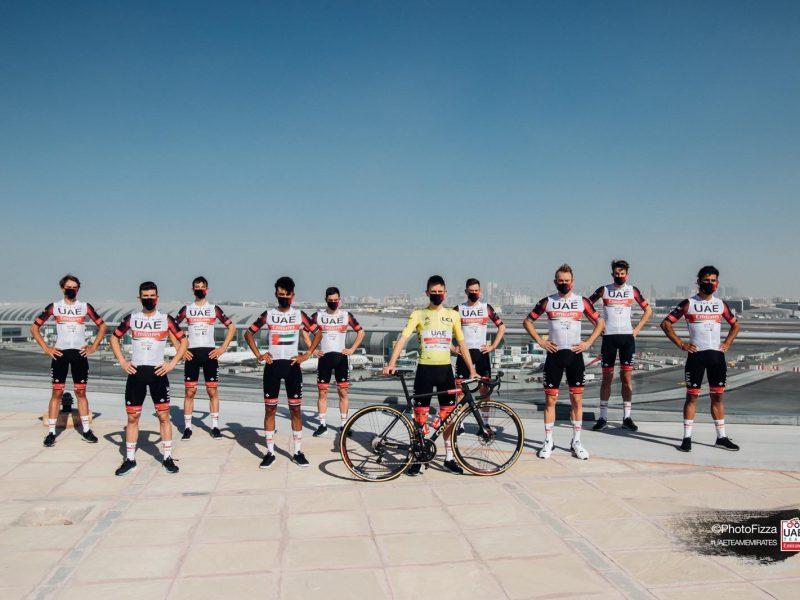 UAE Team Emirates primeira equipa vacinada